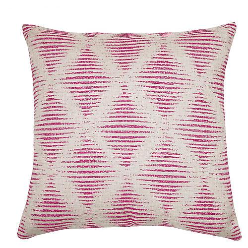 Kinney 22x22 Pillow, Fuchsia/Ivory