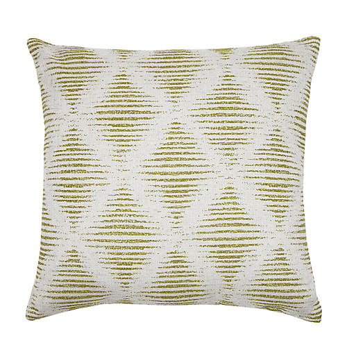 Kinney 22x22 Pillow, Chartreuse/Ivory