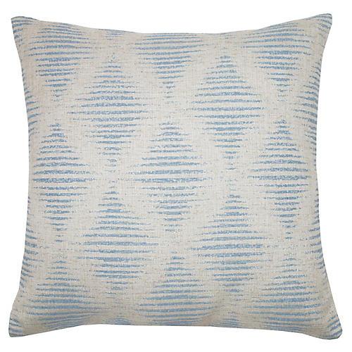 Kinney 22x22 Pillow, Sky/Ivory