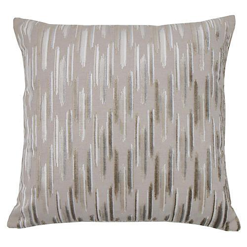 Mira 22x22 Pillow, Sandstone/Silver Velvet