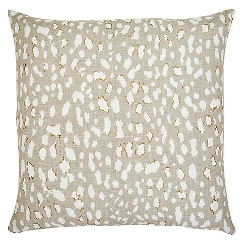 Ollie 22x22 Pillow, Beige Leopard Linen