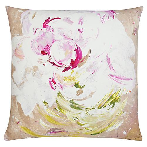 Peony Pop 22x22 Outdoor Pillow, Magenta/Multi