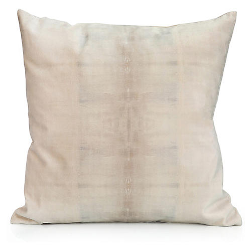 Dune No. 2 20x20 Pillow, Beige/Taupe Velvet