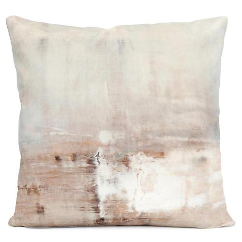 Dune 20x20 Pillow, Beige/Taupe Velvet