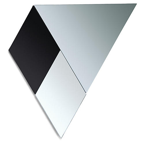 Jonny Accent Mirror Set, Black