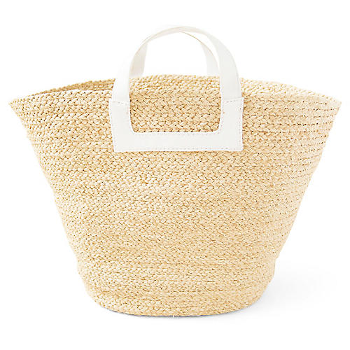 Tibi Braided Bag, Natural/White