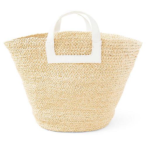 Tibi Braided Bag, Natural/White