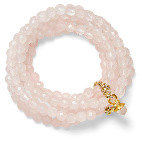 14-Kt Quartz Stretch Bracelet, Rose