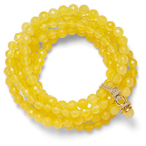 14-Kt Quartz Stretch Bracelet, Yellow