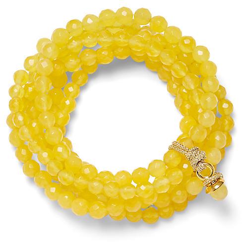 14-Kt Quartz Stretch Bracelet, Yellow