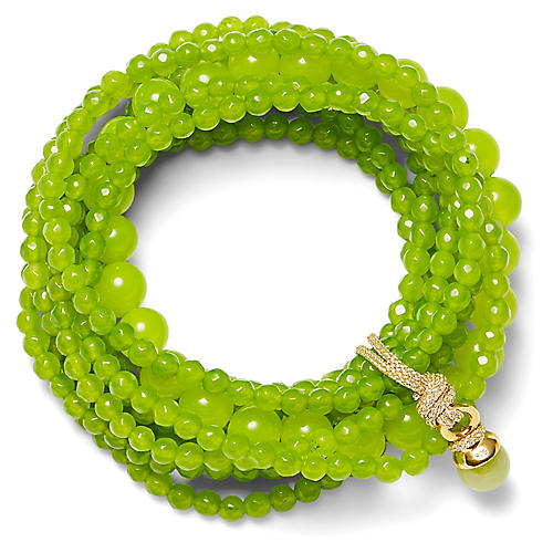 14-Kt Quartz Stretch Bracelet, Lime