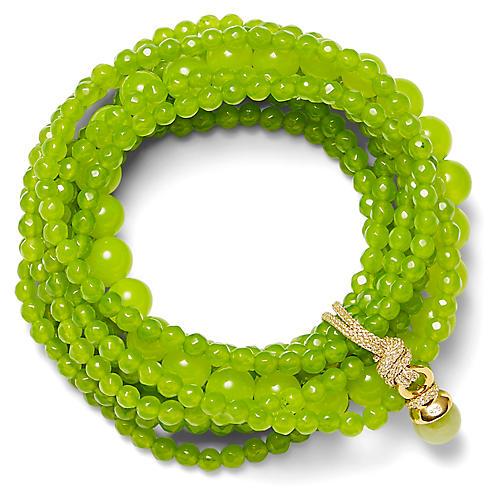 14-Kt Quartz Stretch Bracelet, Lime