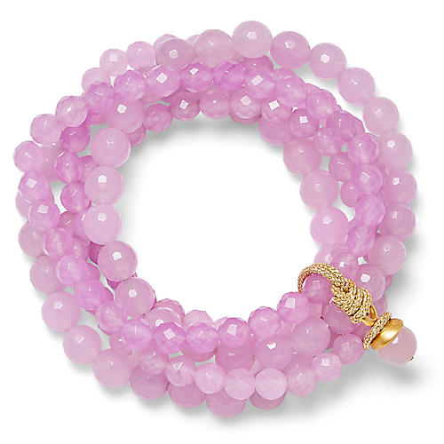 14-Kt Quartz Stretch Bracelet, Purple