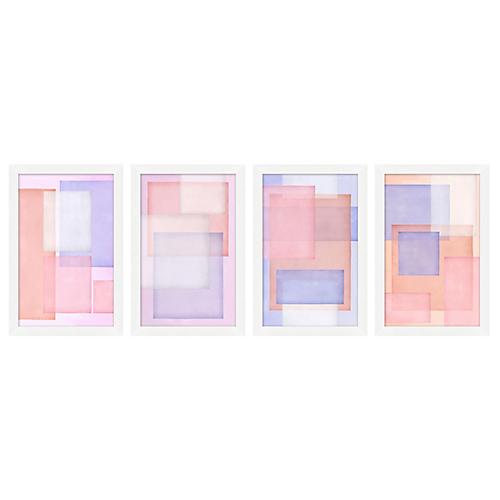 Set of 4 Pastel Layers