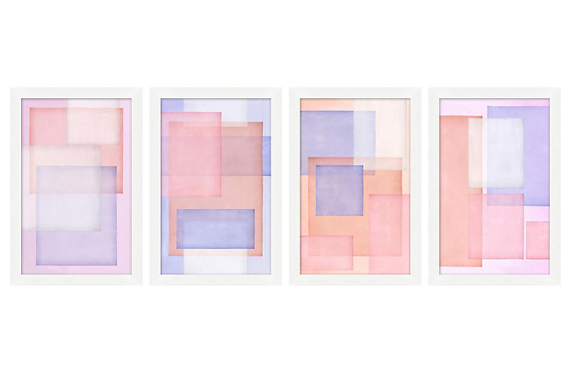 Set of 4 Pastel Layers Vellum
