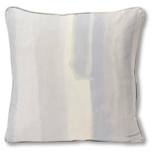 Watercolor 18x18 Pillow, Lilac/Ivory Linen