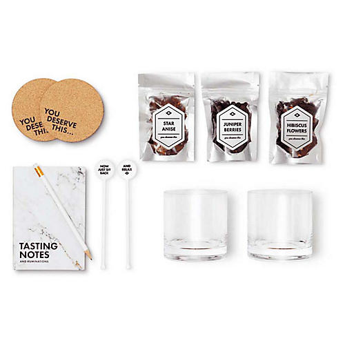 Gin-Lover's Bar Kit, White