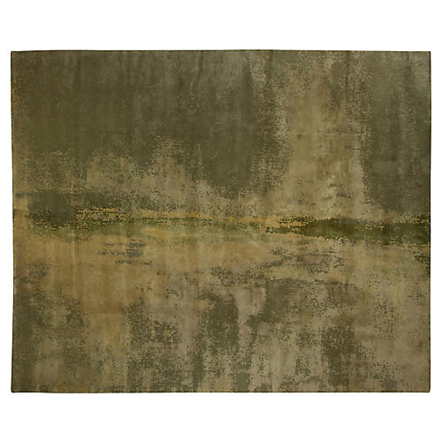 Mesa Hand-Knotted Rug, Olive