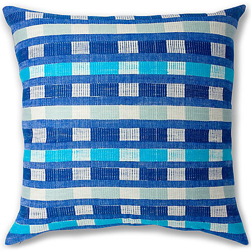 Mursi 26x26 Pillow, Azure
