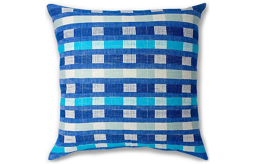 Mursi 26x26 Pillow, Azure