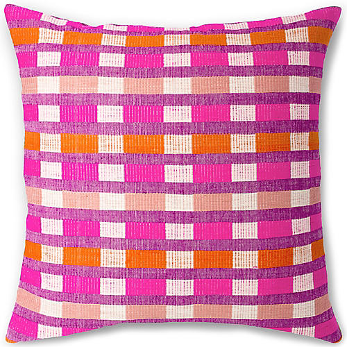 Mursi 26x26 Pillow, Cerise