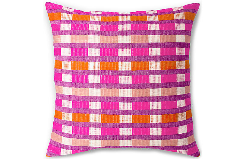 Mursi 26x26 Pillow, Cerise
