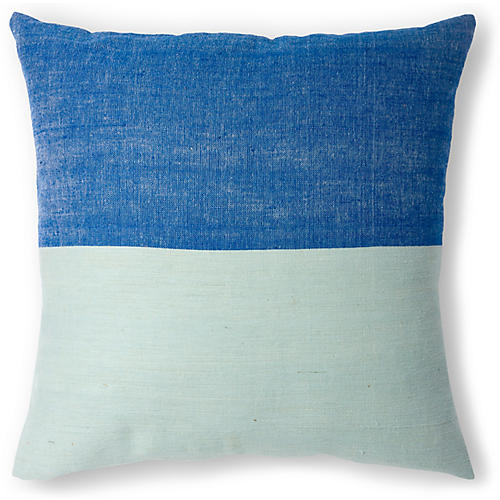 Karo 20x20 Pillow, Azure