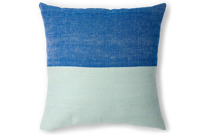 Karo 20x20 Pillow, Azure