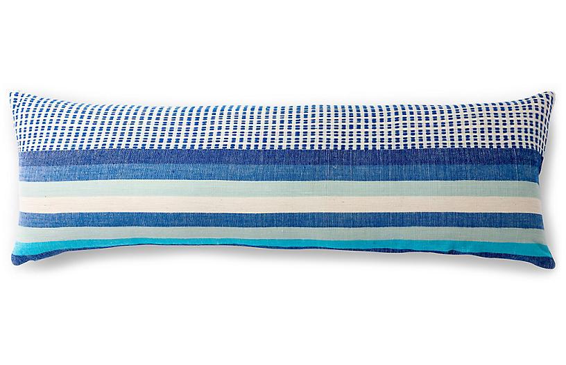 Suri 12x36 Lumbar Pillow, Azure
