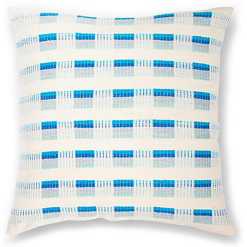 Turmi 18x18 Pillow, Azure
