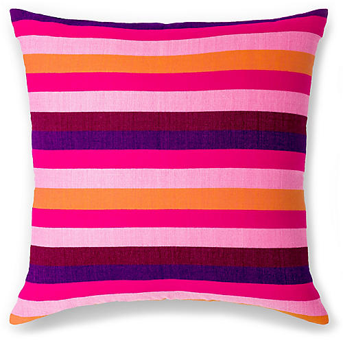 Turkana 18x18 Pillow, Fuchsia