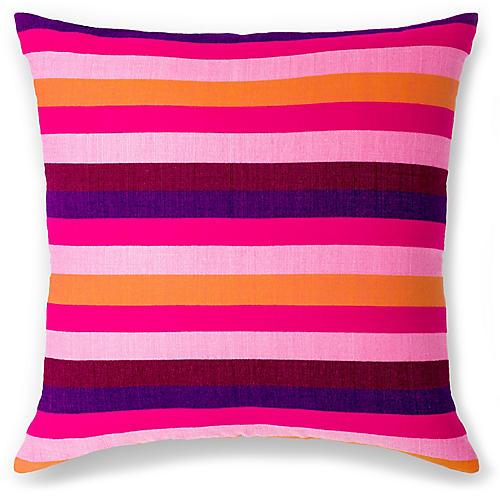 Turkana 18x18 Pillow, Fuchsia