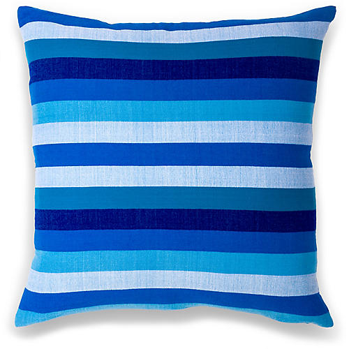 Turkana 18x18 Pillow, Cerulean