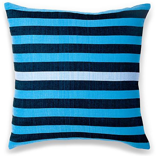 Dassanech 18x18 Pillow, Cerulean