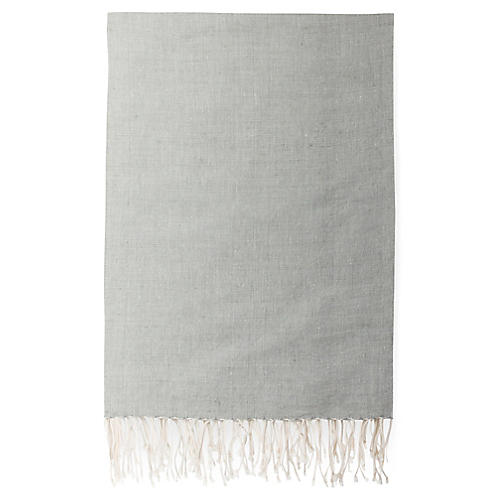 Suki Ethiopian Cotton Throw, Pumice