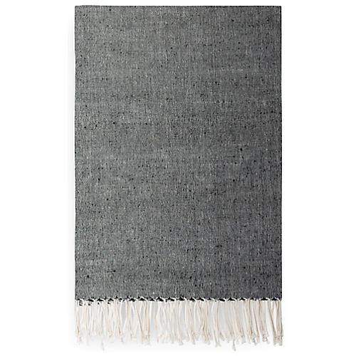 Suki Ethiopian Cotton Throw, Onyx