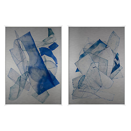 Indigo Etching Set of 2