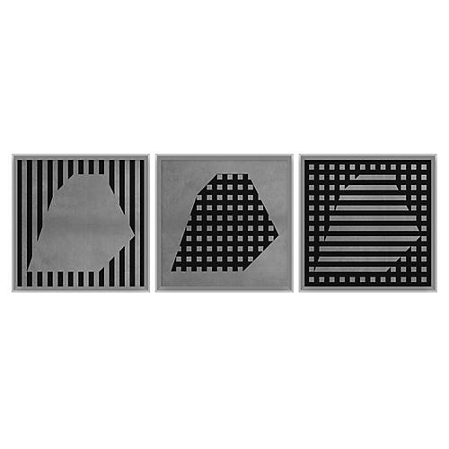 Silver Rhombus Set of 3