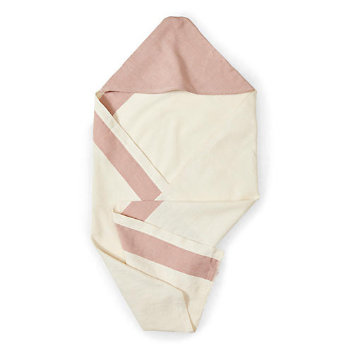Aboosh Hooded Towel, Dusty Rose