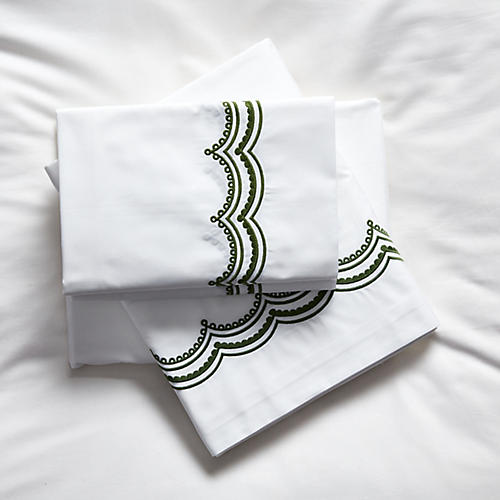 Evelyn Sheet Set, Moss Green