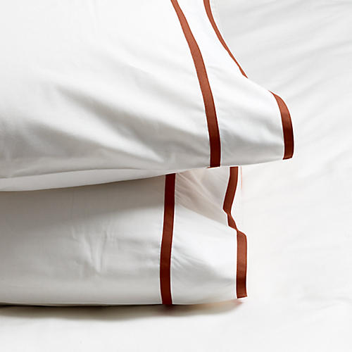 S/2 Collana Pillowcases, Rust