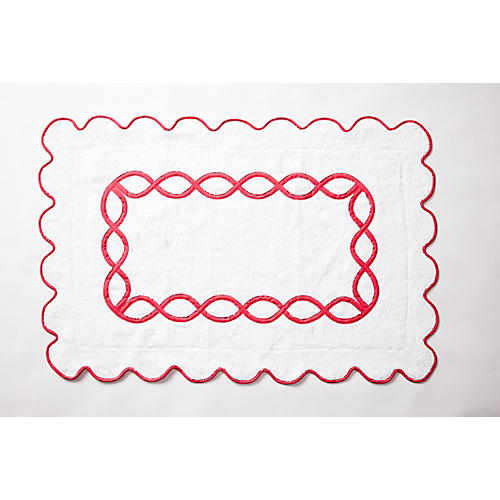 Gianna Bath Mat, Shocking Pink