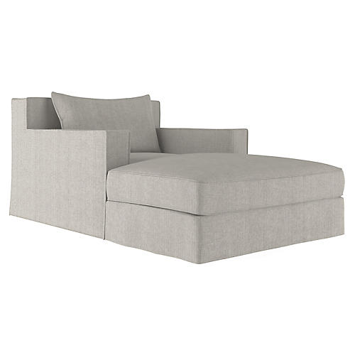 Mulberry Chaise, Silver Streak
