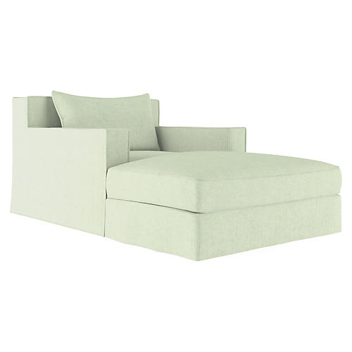 Mulberry Chaise, Sea Spray