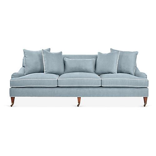 Santa Barbara Sofa, Light Blue Linen