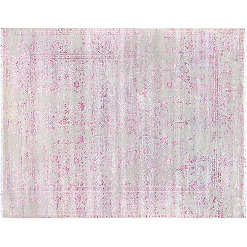 """8'x10'2"""" Yuno Rug, Silver/Pink"""