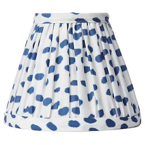 Spots Clip-On Lampshade, Blue