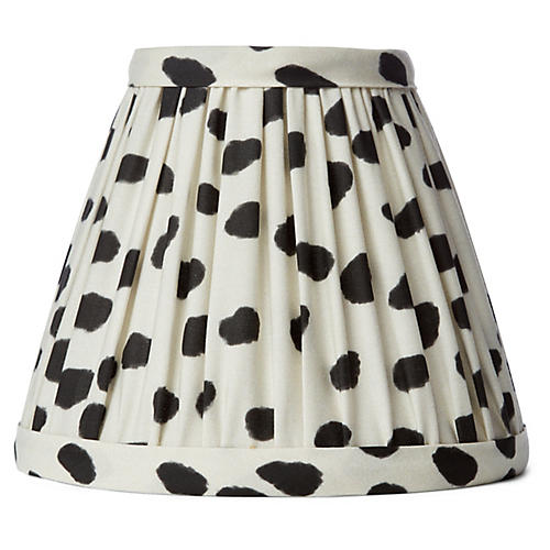 Spots Clip-On Lampshade, Ivory