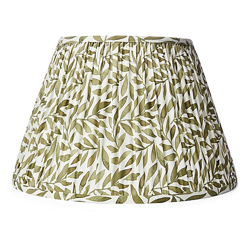 Spring Leaf Lampshade, Green
