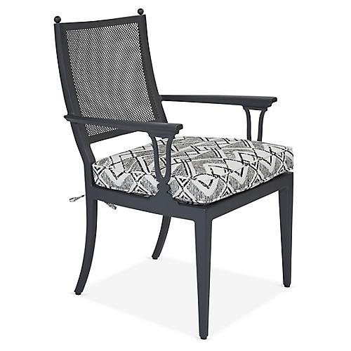 Winterthur Estate Armchair, Gray/Black